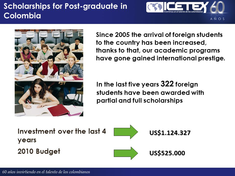 Since 2005 the arrival of foreign students to the country has been increased, thanks to that, our academic programs have gone gained international prestige.