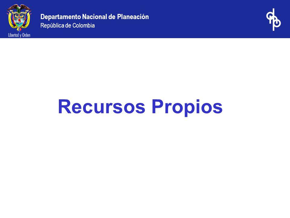 Departamento Nacional de Planeación República de Colombia Recaudo principales impuestos del departamento de San Andrés y Providencia (millones de $ constantes de 2002)