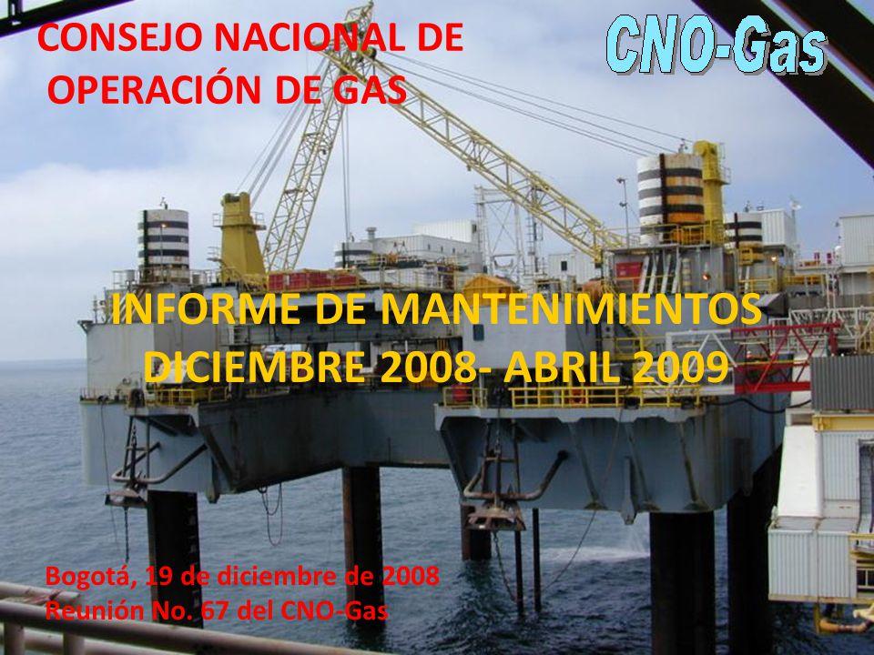 INFORME DE MANTENIMIENTOS DICIEMBRE 2008- ABRIL 2009 Bogotá, 19 de diciembre de 2008 Reunión No.