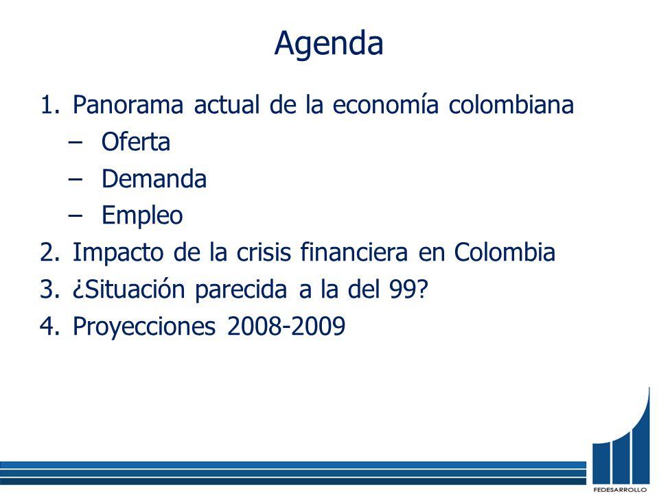 La crisis hipotecaria no ha tocado fondo Fuente: Standard & Poors Fuente: Bancolombia Índice VIX Flujos de comercio internacional