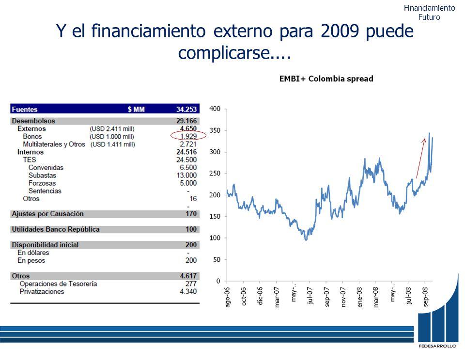 Y el financiamiento externo para 2009 puede complicarse.... Financiamiento Futuro