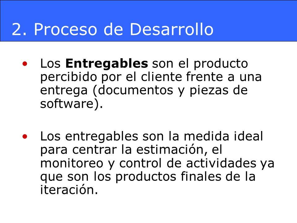Los Entregables son el producto percibido por el cliente frente a una entrega (documentos y piezas de software). Los entregables son la medida ideal p