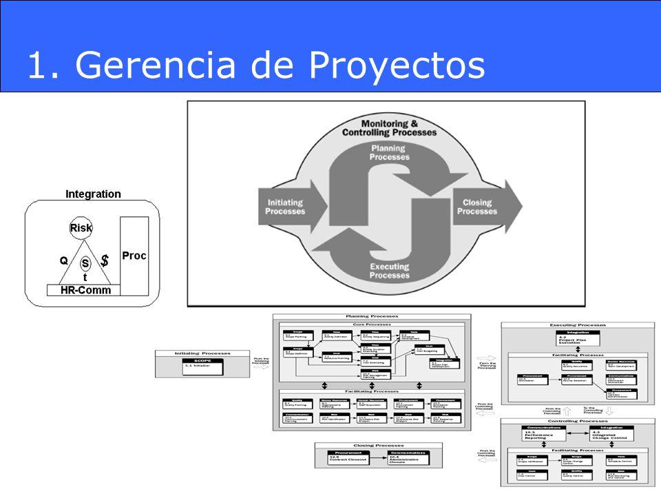 1. Gerencia de Proyectos