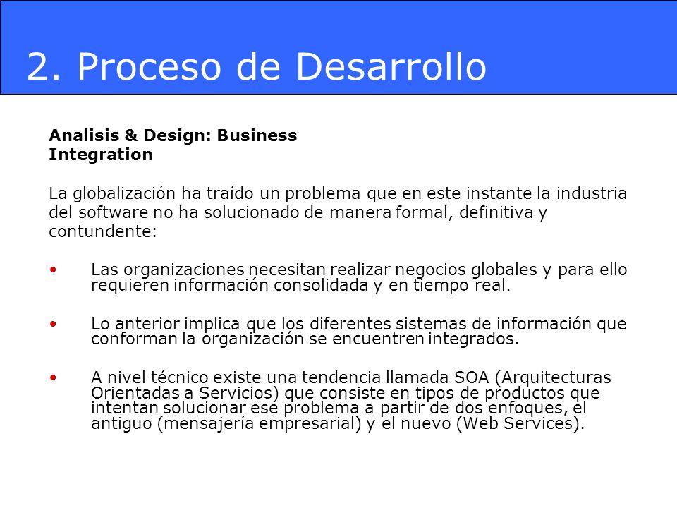 Analisis & Design: Business Integration La globalización ha traído un problema que en este instante la industria del software no ha solucionado de man