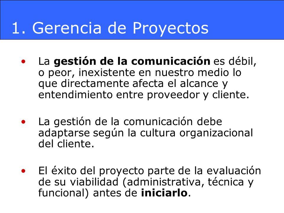 Es responsabilidad del Gerente Funcional previamente evaluar la viabilidad del proyecto y proveer toda la información administrativa, técnica y funcional a los proveedores.