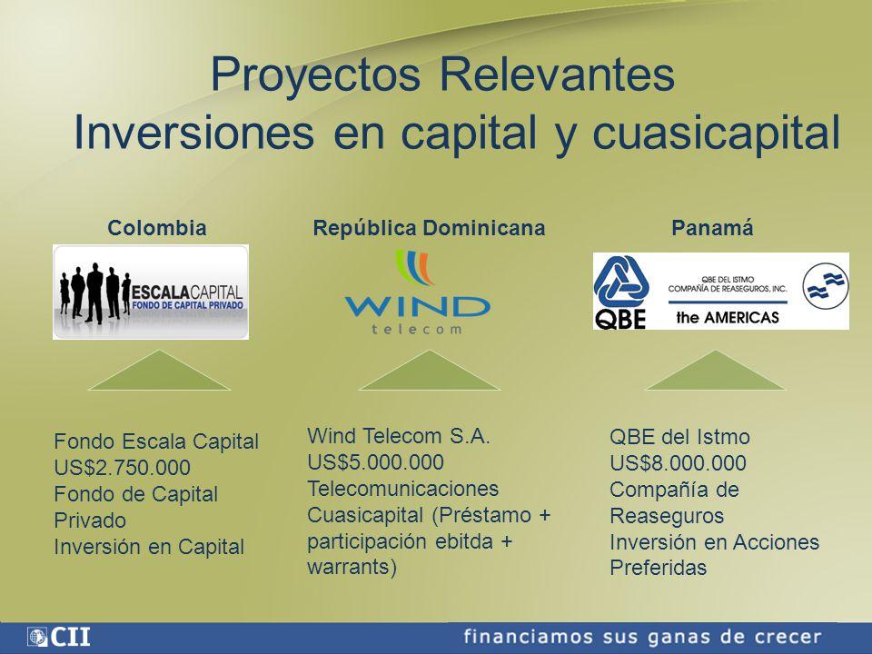 Proyectos Relevantes Inversiones en capital y cuasicapital Wind Telecom S.A.