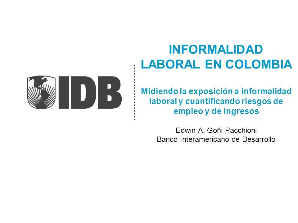 INFORMALIDAD LABORAL EN COLOMBIA Midiendo la exposición a informalidad laboral y cuantificando riesgos de empleo y de ingresos Edwin A.