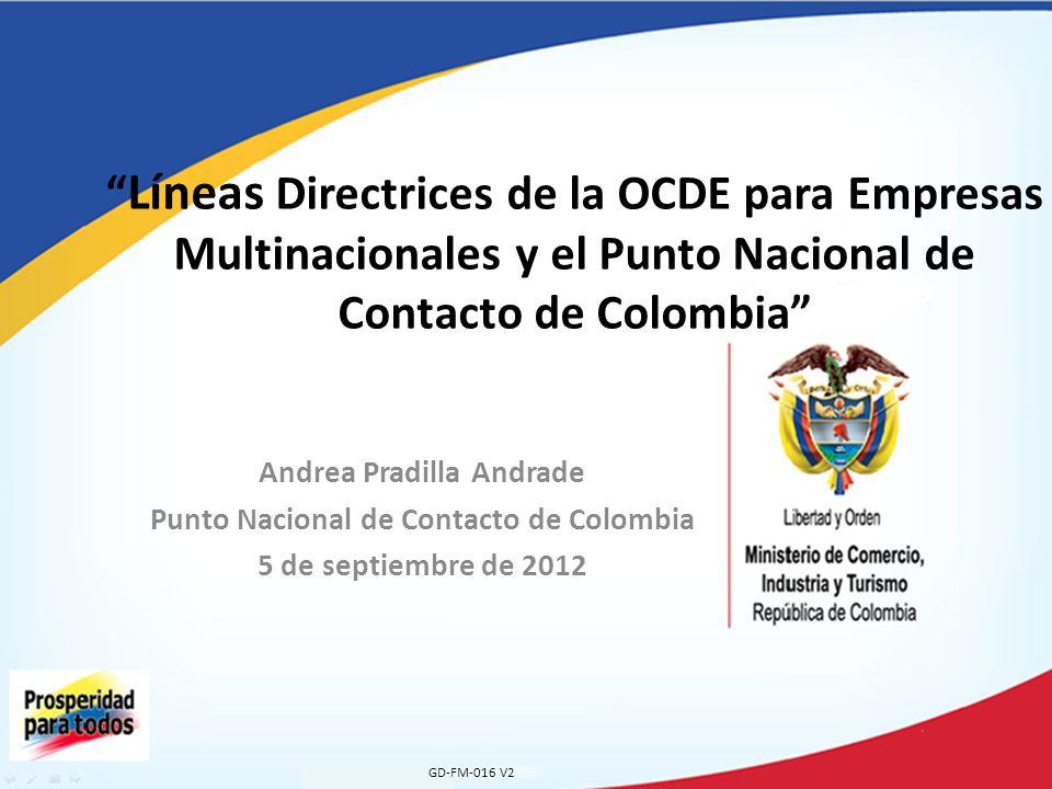 Divulgación de las Líneas Directrices GD-FM-016 V2 Convocados por el Gobierno Nacional.