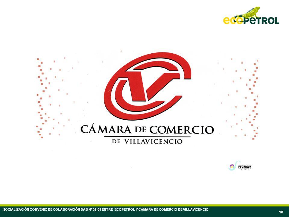 18 SOCIALIZACIÓN CONVENIO DE COLABORACIÓN DAB Nº 02-09 ENTRE ECOPETROL Y CÁMARA DE COMERCIO DE VILLAVICENCIO