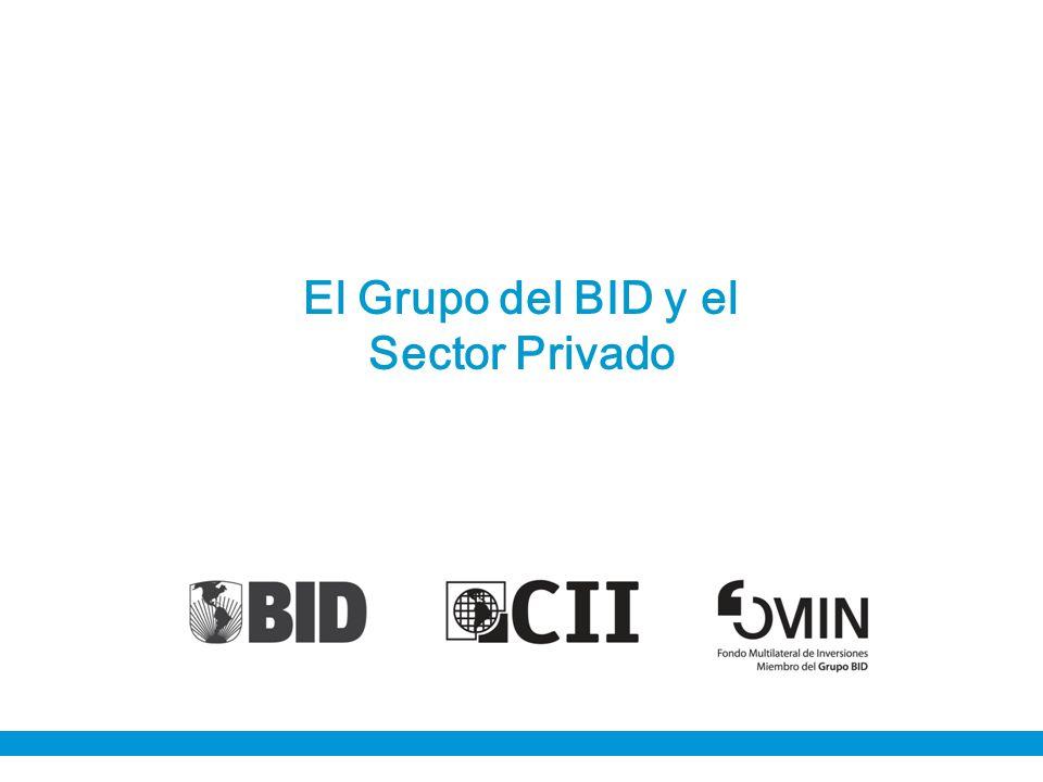 I.Objetivos Institucionales con el Sector Privado I.El Grupo del BID: ¿quiénes somos.