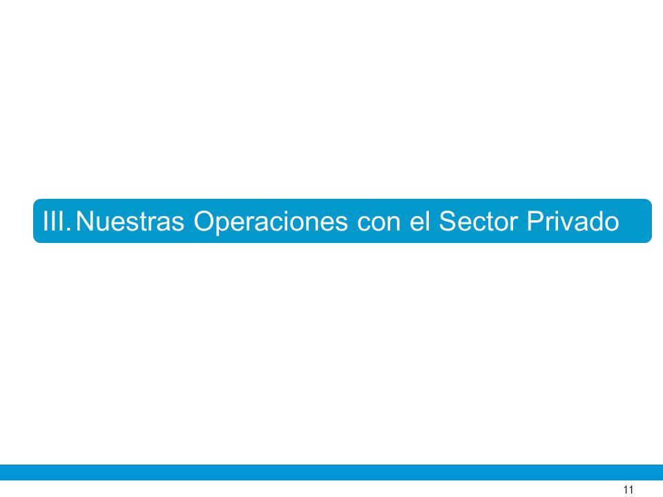 11 III.Nuestras Operaciones con el Sector Privado