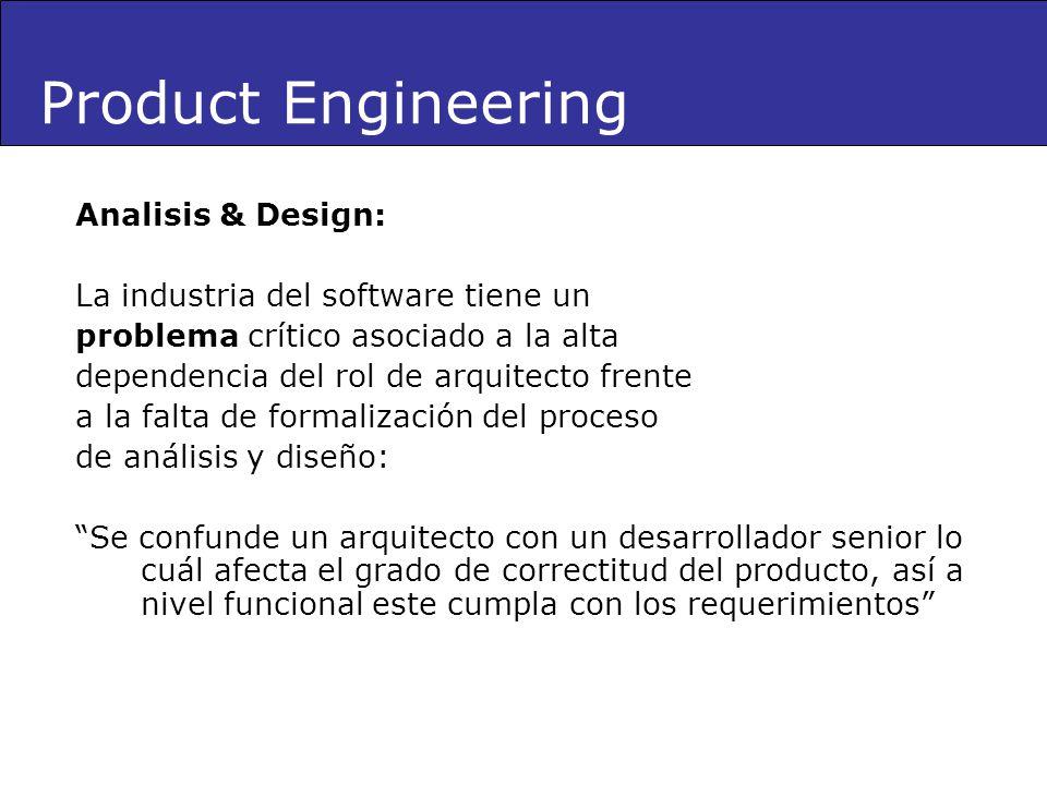 Analisis & Design: La industria del software tiene un problema crítico asociado a la alta dependencia del rol de arquitecto frente a la falta de forma