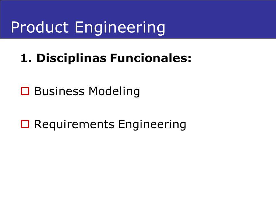 1. Disciplinas Funcionales: Business Modeling Requirements Engineering