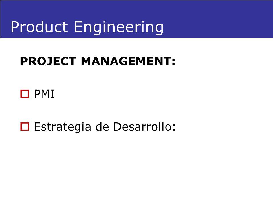 PROJECT MANAGEMENT: PMI Estrategia de Desarrollo: