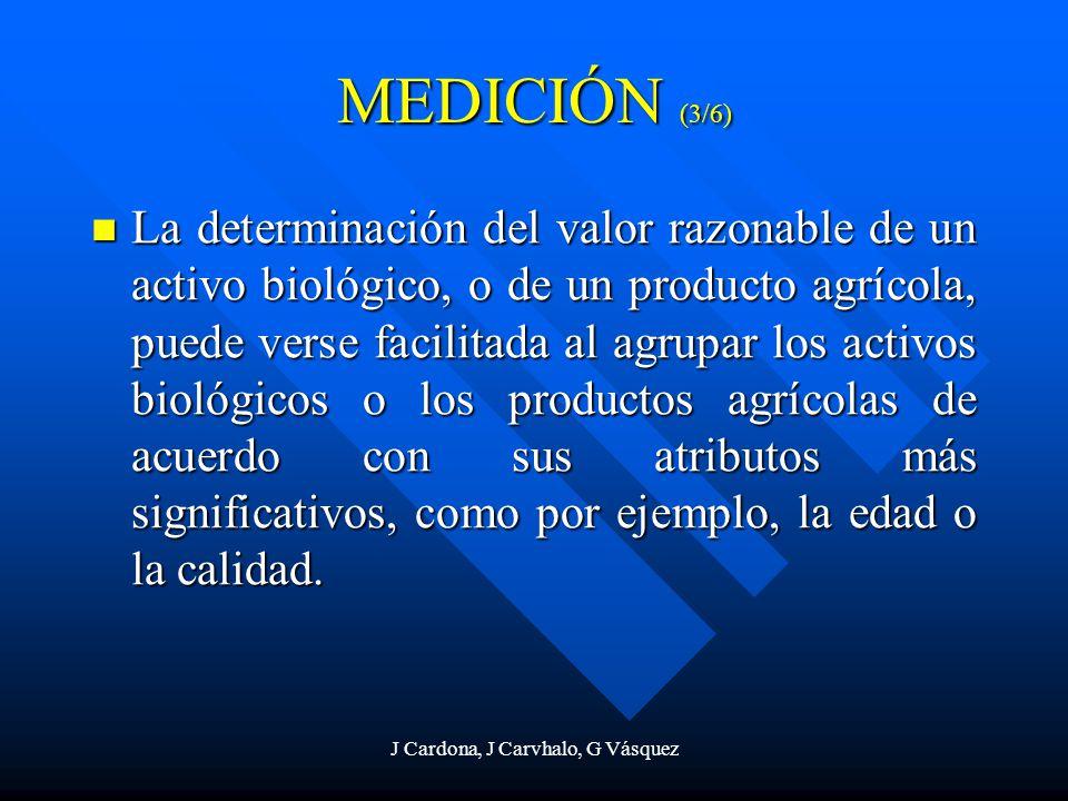 J Cardona, J Carvhalo, G Vásquez La determinación del valor razonable de un activo biológico, o de un producto agrícola, puede verse facilitada al agr