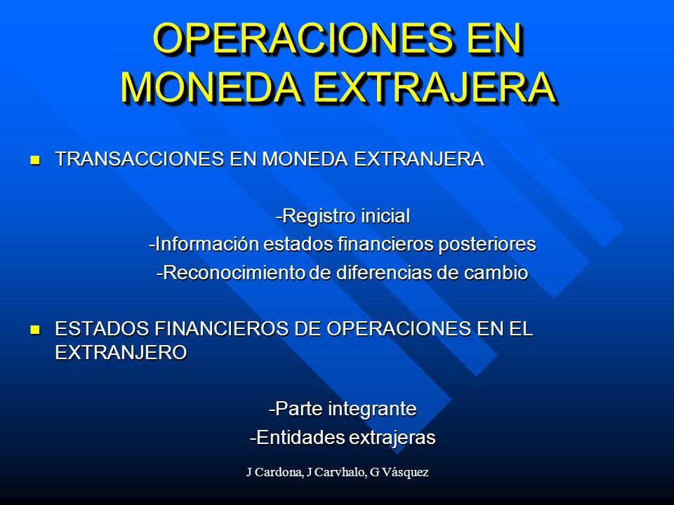 J Cardona, J Carvhalo, G Vásquez OPERACIONES EN MONEDA EXTRAJERA TRANSACCIONES EN MONEDA EXTRANJERA TRANSACCIONES EN MONEDA EXTRANJERA -Registro inici