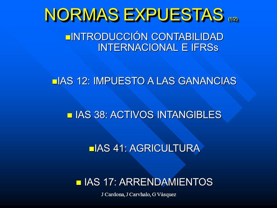 INTRODUCCIÓN CONTABILIDAD INTERNACIONAL E IFRSs INTRODUCCIÓN CONTABILIDAD INTERNACIONAL E IFRSs IAS 12: IMPUESTO A LAS GANANCIAS IAS 12: IMPUESTO A LA