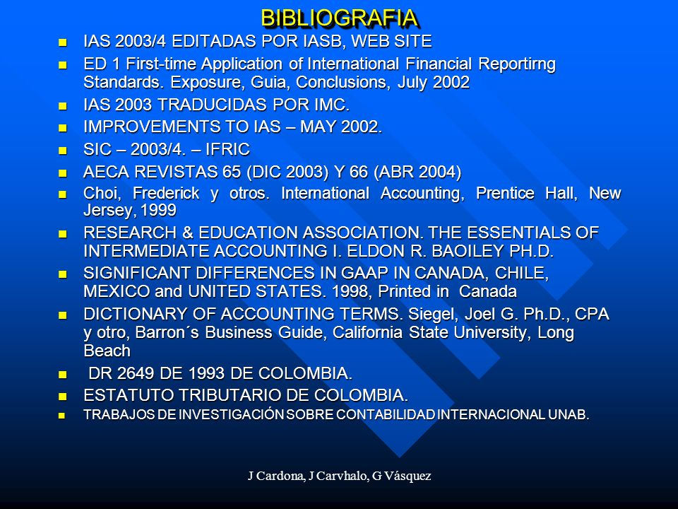 J Cardona, J Carvhalo, G Vásquez Current Cost Balance Sheet Assets19961995 Cash, bank and short-term investments 2.4851.886 Receivables6.0316.021 Inventories5.1025.136 Fixed assets 10.47410.221 Total assets 24.09223.264 Liabilities and shareholders´equity Current liabilities 7.3117.853 Long-term liabilities 4.0863.852 Unrealized price changes 8441.085 Shareholders´equity11.85110.474 Total liabilities and shareholders´equity 24.09223.264