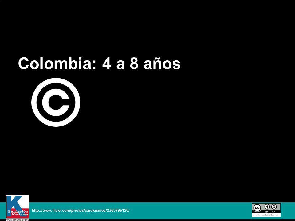 Colombia: 4 a 8 años http://www.flickr.com/photos/paroxismos/2365796120/
