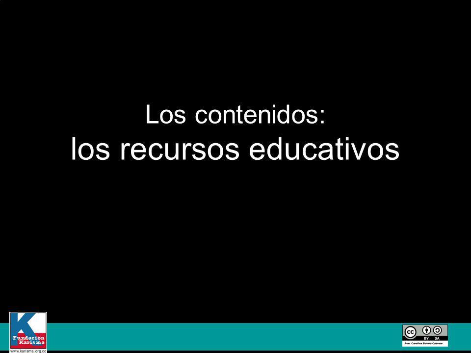 Los contenidos: los recursos educativos