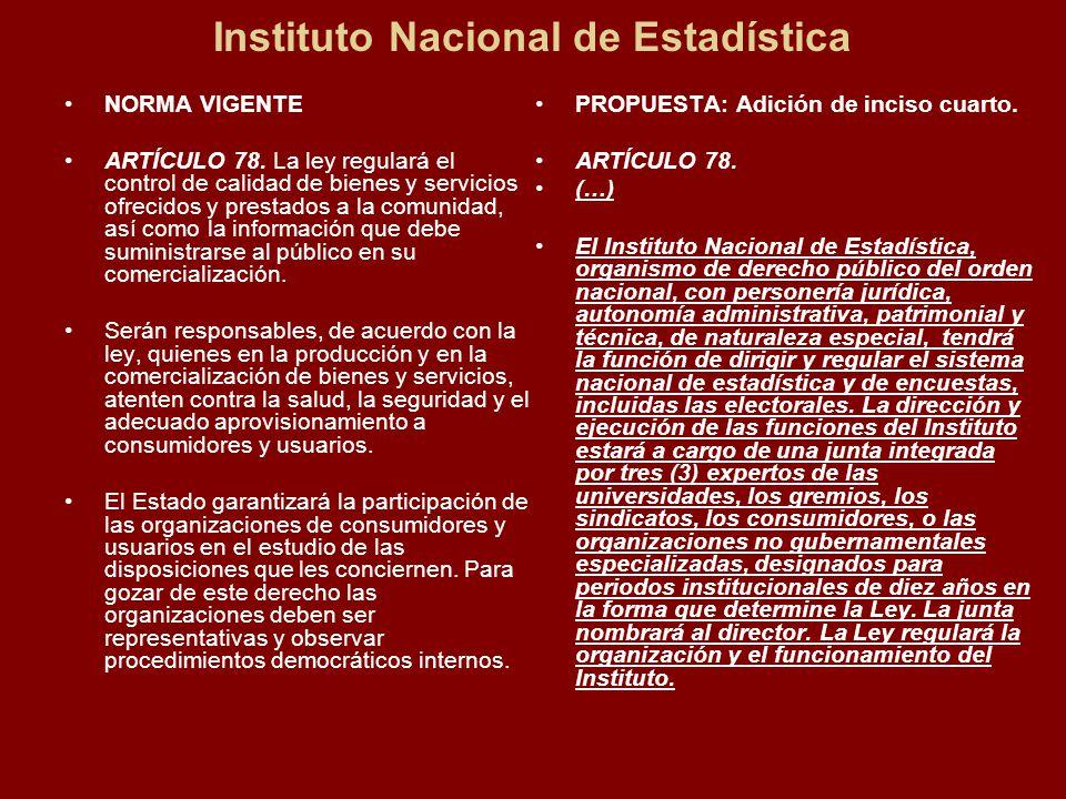 Instituto Nacional de Estadística NORMA VIGENTE ARTÍCULO 78.