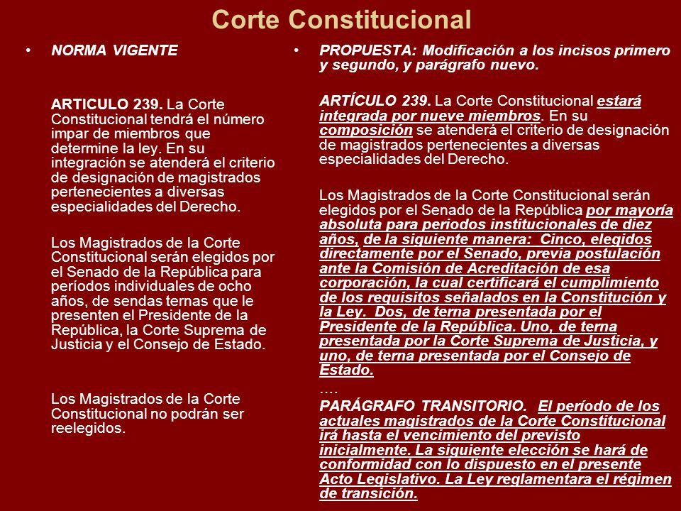 Corte Constitucional NORMA VIGENTE ARTICULO 239.