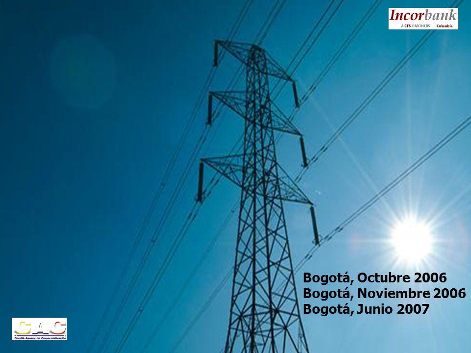 Bogotá, Octubre 2006 Bogotá, Noviembre 2006 Bogotá, Junio 2007