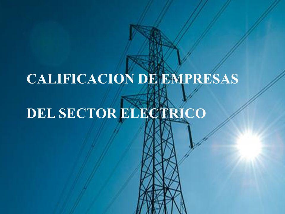 CALIFICACION DE EMPRESAS DEL SECTOR ELECTRICO