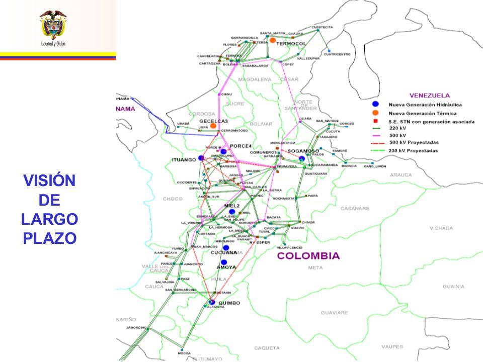 REPÚBLICA DE COLOMBIA MINISTERIO DE MINAS Y ENERGÍA U NIDAD DE P LANEACIÓN M INERO E NERGÉTICA VISIÓN DE LARGO PLAZO