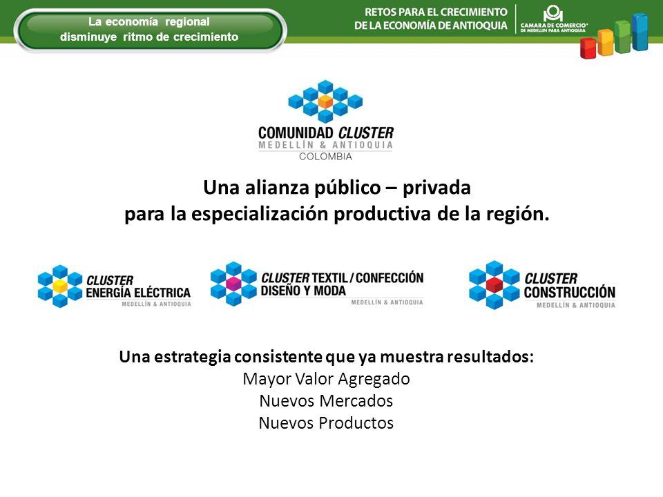 Una alianza público – privada para la especialización productiva de la región. Una estrategia consistente que ya muestra resultados: Mayor Valor Agreg