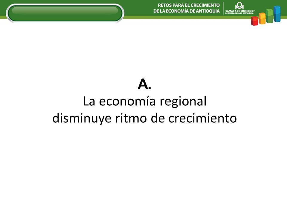 El PIB de Antioquia en 2008 se ubicará alrededor del 4.5%.