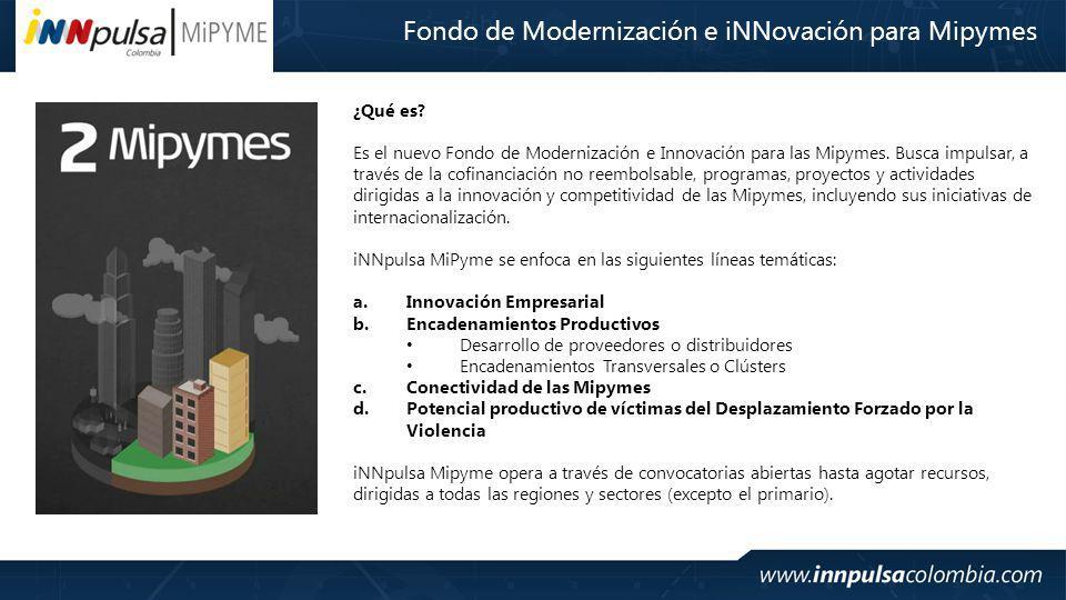 ¿Qué es.Es el nuevo Fondo de Modernización e Innovación para las Mipymes.