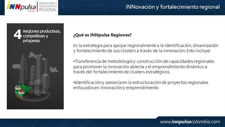 iNNovación y fortalecimiento regional ¿Qué es iNNpulsa Regiones.