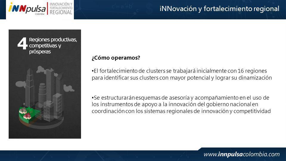 iNNovación y fortalecimiento regional ¿Cómo operamos.