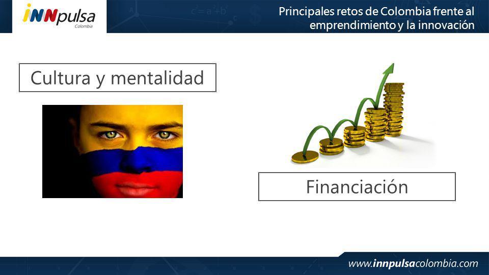 Cultura y mentalidad Financiación Principales retos de Colombia frente al emprendimiento y la innovación
