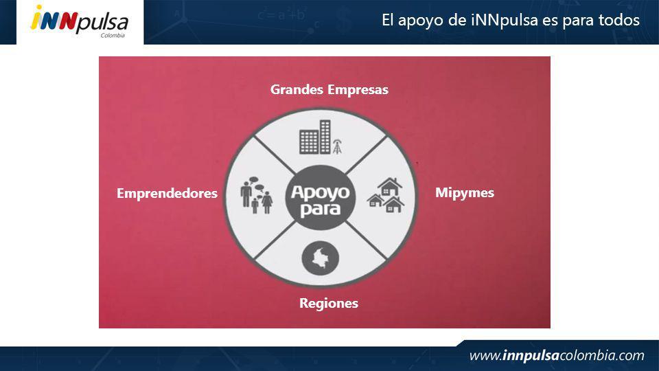 Emprendedores Mipymes Grandes Empresas Regiones El apoyo de iNNpulsa es para todos