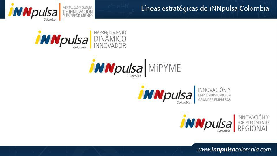 Líneas estratégicas de iNNpulsa Colombia