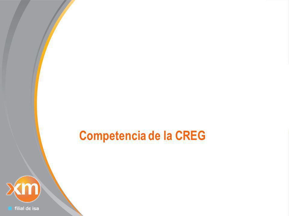 Todos los derechos reservados para XM S.A. E.S.P 18 Competencia de la CREG