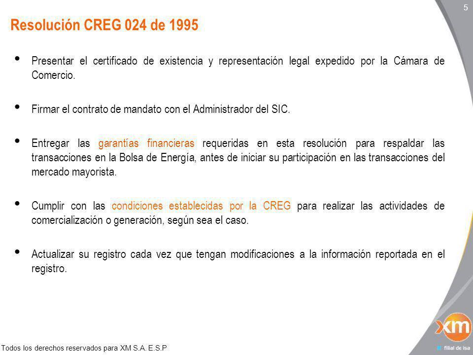 Todos los derechos reservados para XM S.A. E.S.P 16 Experiencias internacionales