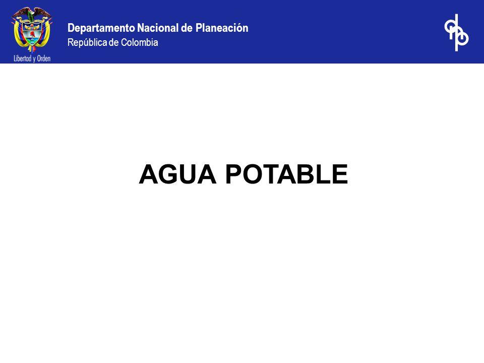 Departamento Nacional de Planeación República de Colombia AGUA POTABLE