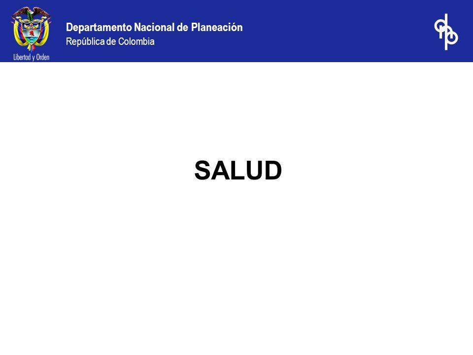Departamento Nacional de Planeación República de Colombia SALUD