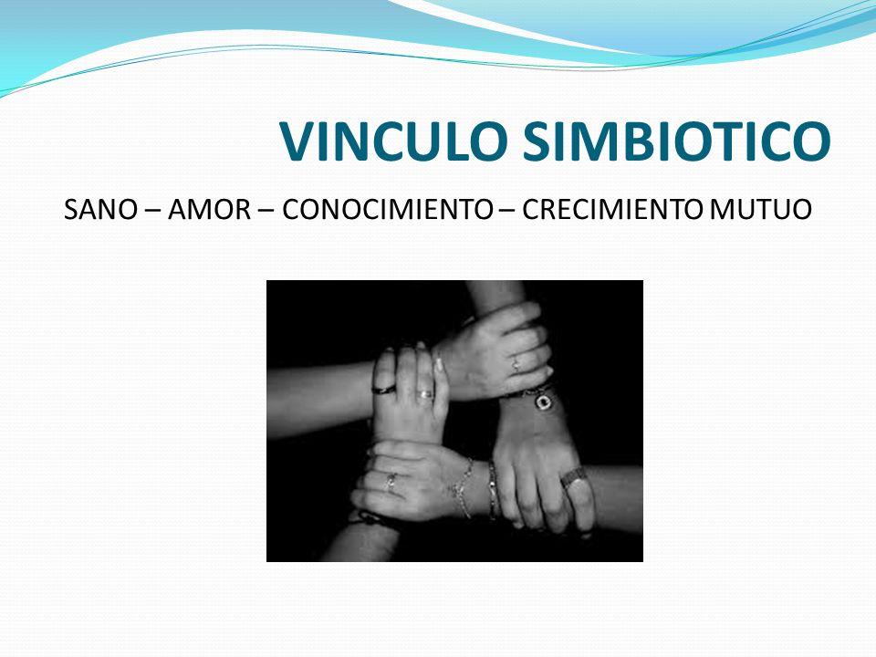 VINCULO SIMBIOTICO SANO – AMOR – CONOCIMIENTO – CRECIMIENTO MUTUO