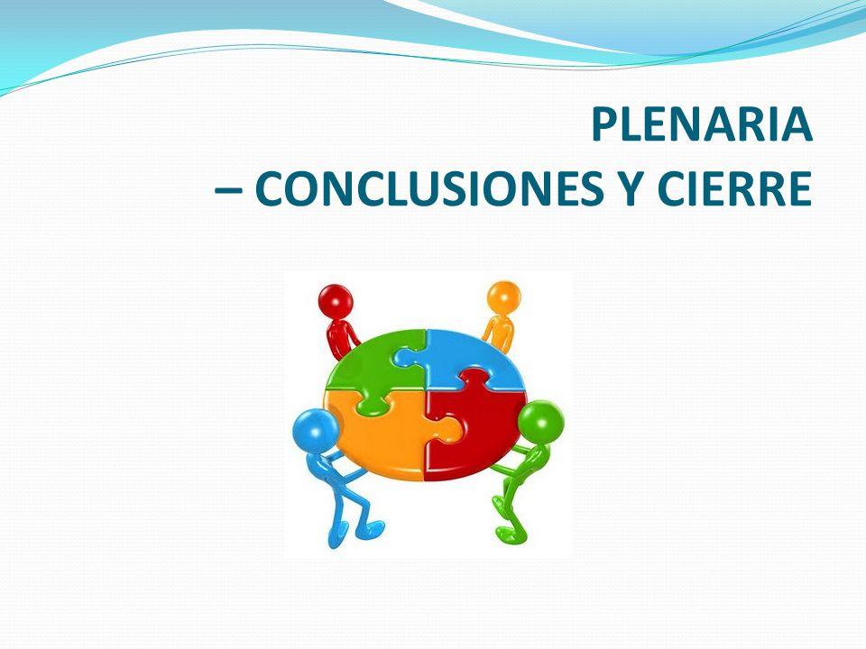 PLENARIA – CONCLUSIONES Y CIERRE
