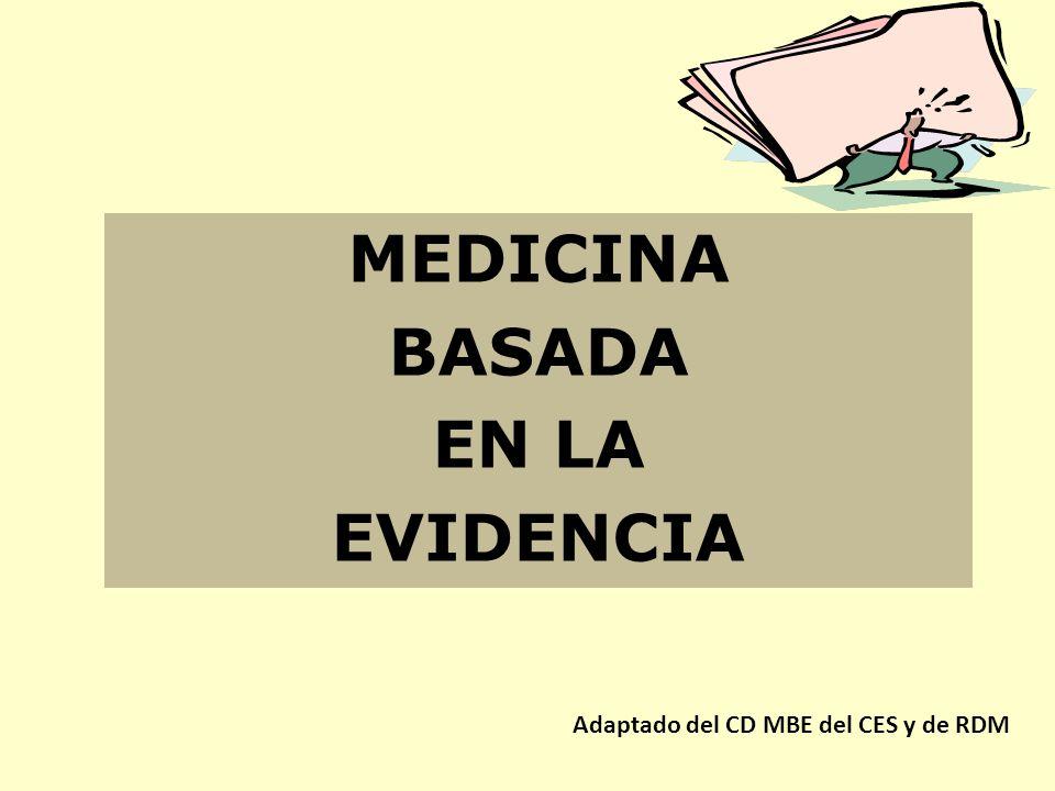 Ensayos clínicos aleatorizados (ECA) Meta análisis Revisiones sistemáticas Guías de práctica clínica Integración de la literatura científica