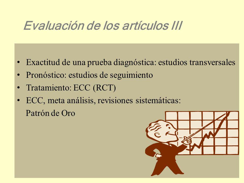 Evaluar los IC Determinar el NNT Evaluación de los artículos II