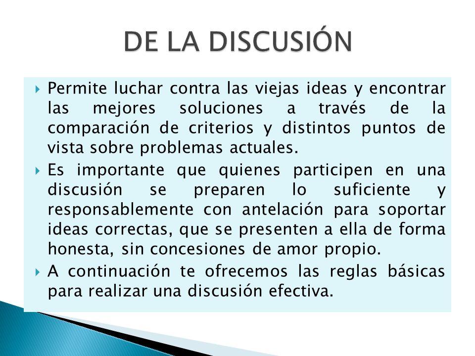 La habilidad para sostener una polémica, para participar en una discusión y responder a preguntas, constituyen cualidades valiosas para cualquier líde