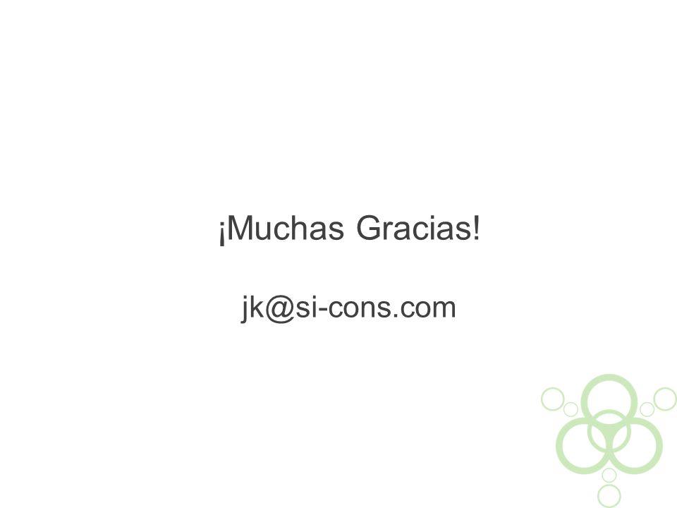 ¡Muchas Gracias! jk@si-cons.com