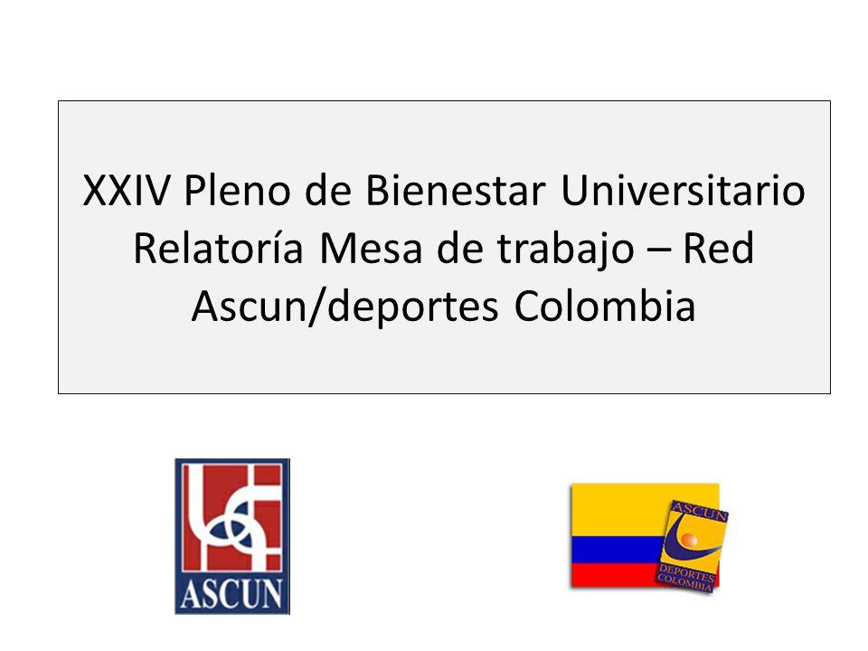 Puntos tratados Contexto histórico de la Red Análisis de la estructura organizacional Investigación sobre: – Prácticas positivas de gestión de las organizaciones deportivas de las Universidades en Colombia – Elementos constitutivos de la plataforma estratégica de la Red