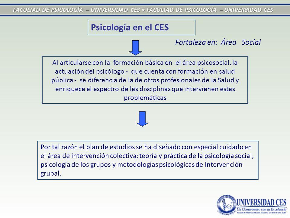 FACULTAD DE PSICOLOGÍA – UNIVERSIDAD CES FACULTAD DE PSICOLOGÍA – UNIVERSIDAD CES Al articularse con la formación básica en el área psicosocial, la ac