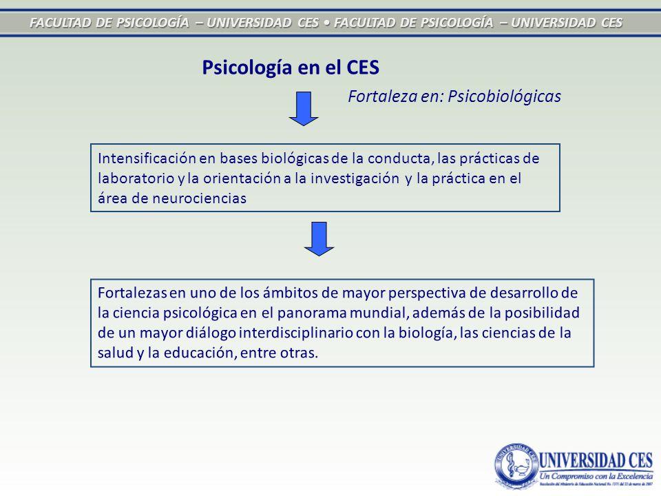 FACULTAD DE PSICOLOGÍA – UNIVERSIDAD CES FACULTAD DE PSICOLOGÍA – UNIVERSIDAD CES Intensificación en bases biológicas de la conducta, las prácticas de